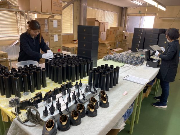 新型の機能水生成器の生産