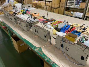 乾式除湿機の生産