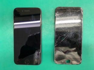 松本市iPhone7画面ガラス割れ修理