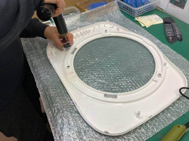 空気清浄機フロントパネル生産