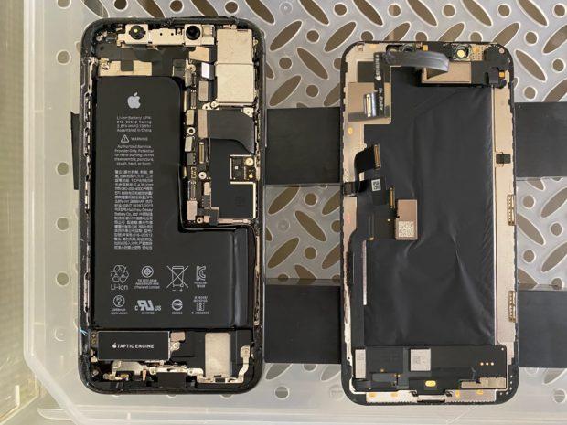 iPhoneXS水没乾燥修理