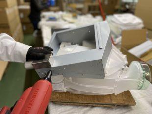 天井吊り下げ型除湿乾燥機の生産