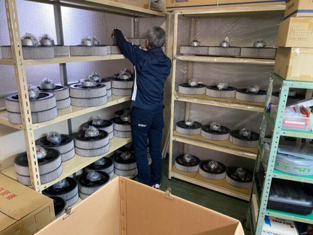 国内メーカー様空気清浄機用フィルター生産