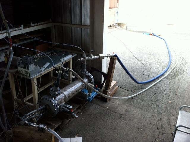 樹脂製熱交換シェル&チューブによる河川利用の冷房