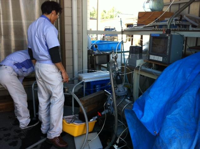 樹脂製熱交換器耐圧試験