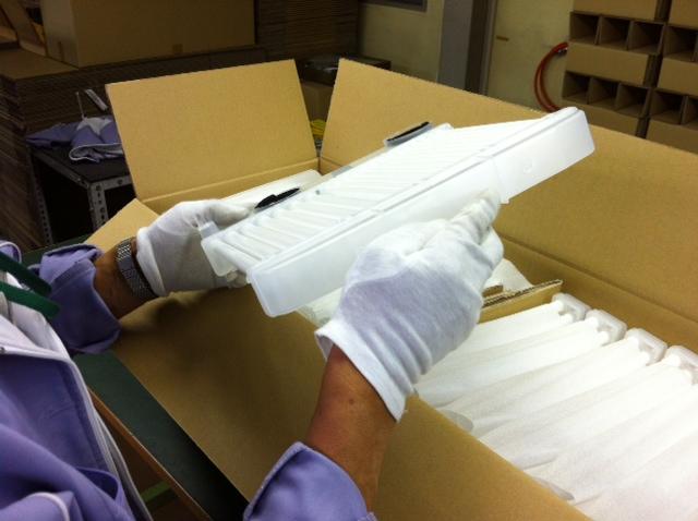除湿機用樹脂製熱交換器抜き取り検査