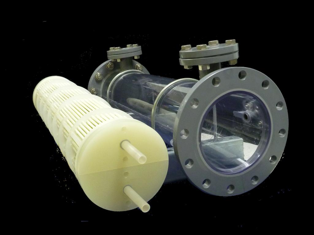 プラスチック熱交換器シェル&チューブ|フランジタイプ