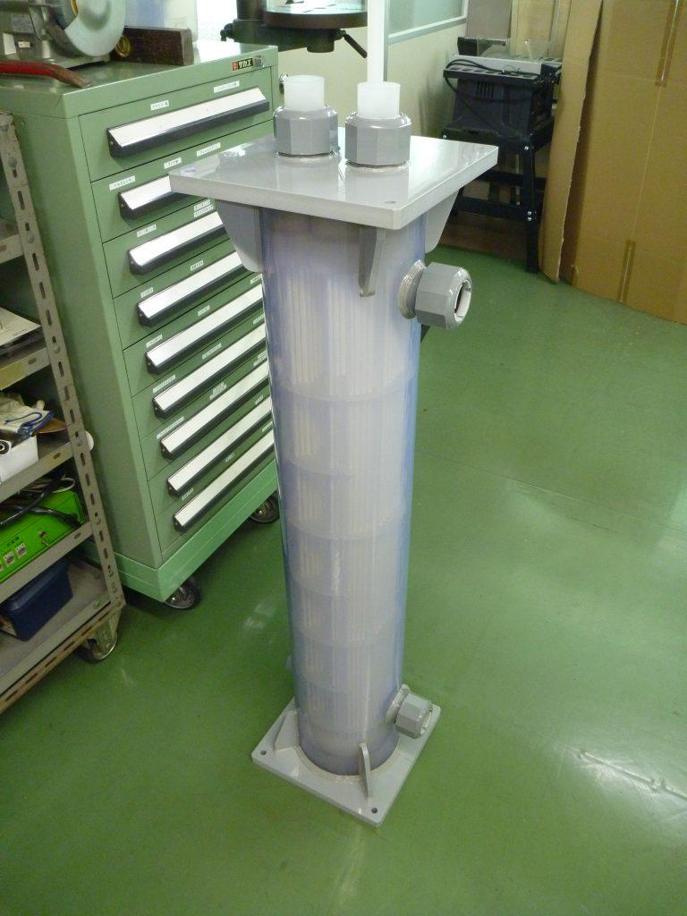 サンニクス プラスチック熱交換器(樹脂熱交換器)の特長その1 ~耐食性に優れ、腐食しない熱交換器~