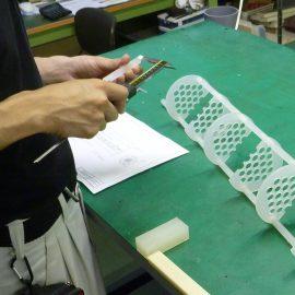 樹脂製熱交換器 新しい形状も検討中です