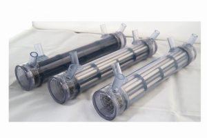 小型熱交換器(プラスチックシェル) 展示用試作品
