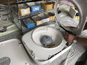 空気清浄機の生産